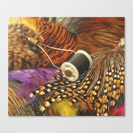The Fly Tyers Spool Canvas Print