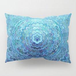 Frozen Oval Mandala Pillow Sham
