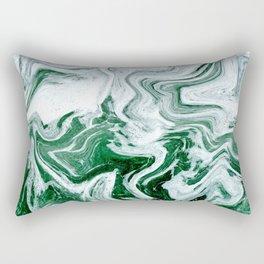 Green Ocean Marble Rectangular Pillow