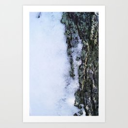 When Snow Starts to Fall Art Print