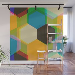 70'S Glam Rock Yellow Wall Mural