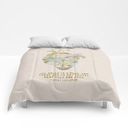 A Traveler's Heart + Quote Comforters