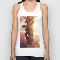 plane Tank Tops featuring Celestial Plane by Bighand illustration