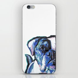 American Bulldog Pop Art by Lea iPhone Skin
