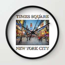 Times Square Sparkle (with typography) Wall Clock