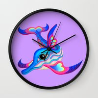 dolphin Wall Clocks featuring dolphin by giol's