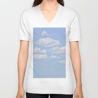 clouds V-neck T-shirts featuring Clouds by Pure Nature Photos
