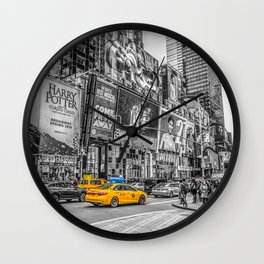 Yellow Taxi's Times Square Wall Clock