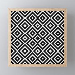Pattern Formes Géométriques Noir/Blanc Framed Mini Art Print