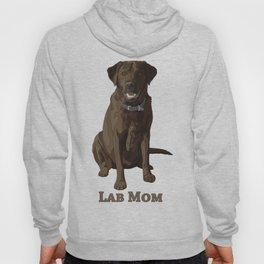 Dog Mom Chocolate Brown Labrador Retriever Hoody