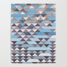 Triangle Pattern No.6 Crisp Blue Poster