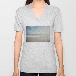 the Pacific Ocean shoreline, California Unisex V-Neck