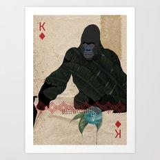 THE KING OF DIAMONDS Art Print