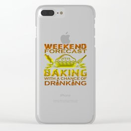 BAKING WEEKEND Clear iPhone Case
