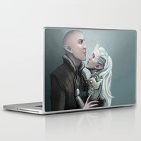 dragon age Laptop & iPad Skins featuring Dragon Age - Solas and Inqusitor by Amber Hague