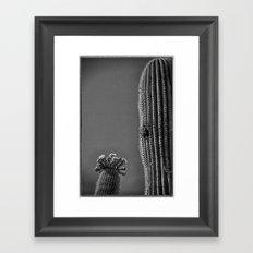 Saguaro in Bloom V1 Framed Art Print