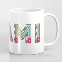 miami Mugs featuring MIAMI  by Oddline