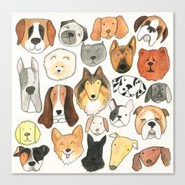 dog lover, dog art Canvas Print