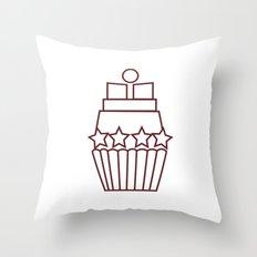 Cupcake Star Throw Pillow