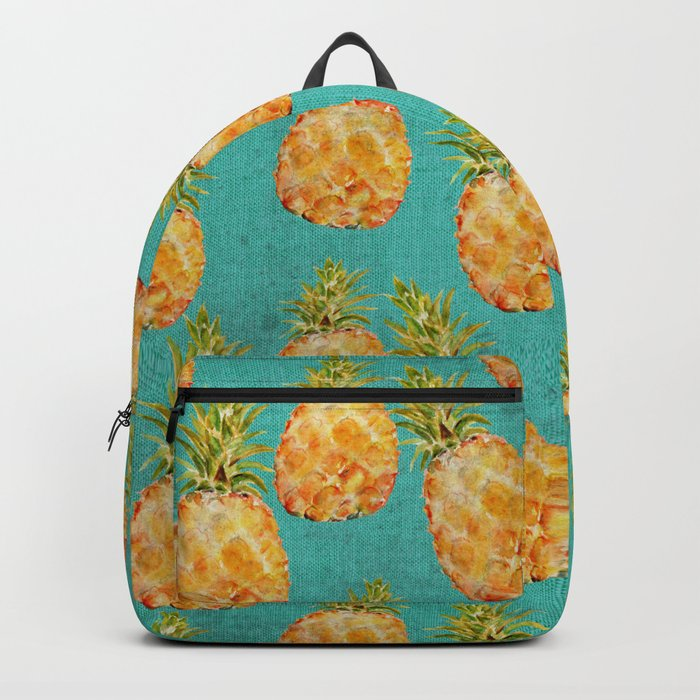 Summer pineapple fruit holiday fun pattern Backpack