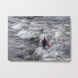 River Surfing Metal Print