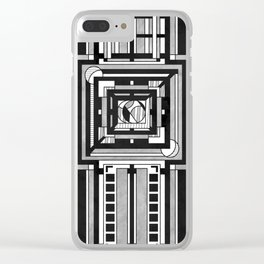 Tapestry - Art Deco Drawing Clear iPhone Case