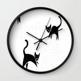 Black cats rule Wall Clock