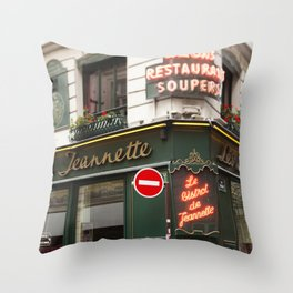 French Bistro - travel photography Throw Pillow