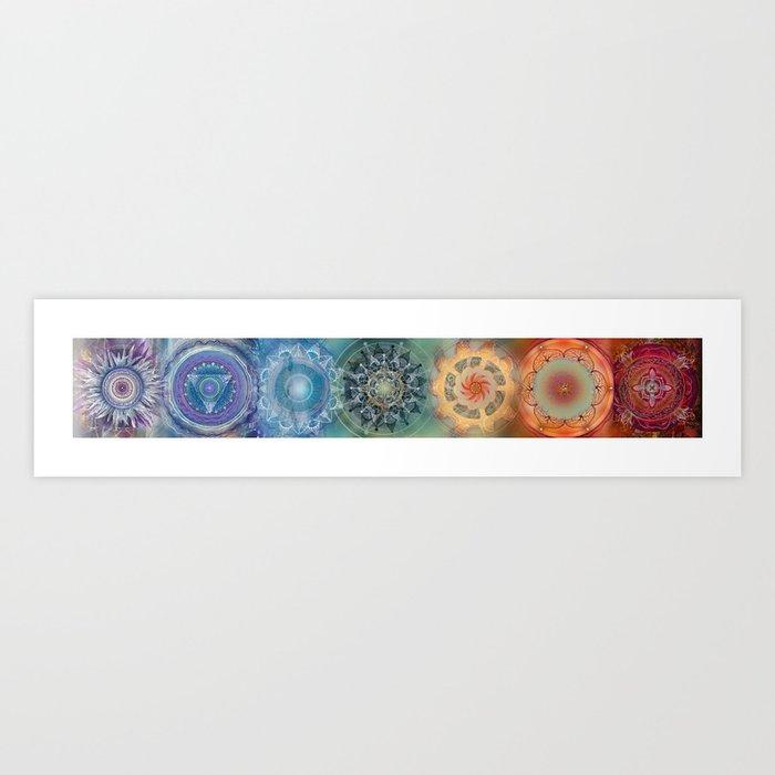 Chakras (Horizontal) Kunstdrucke