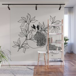 Pomegranate (BW) Wall Mural