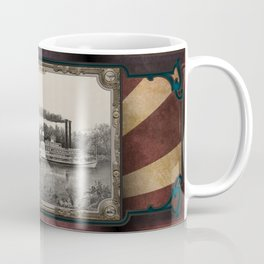 Three Steamboats on river. Age of Steam #001. Coffee Mug