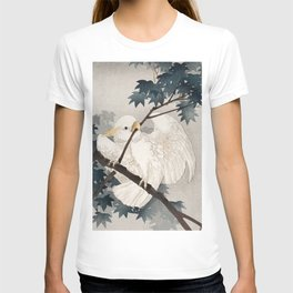 Cockatoo on a tree - Japanese vintage woodblock print T-shirt