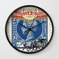 cuba Wall Clocks featuring VINTAGE CUBA by RIGOLEONART