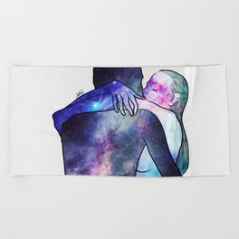 Just you gave me that feeling. Beach Towel