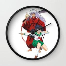 true love inu and kagome Wall Clock