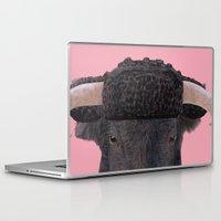 spanish Laptop & iPad Skins featuring Spanish Bull by Rachel Waterman