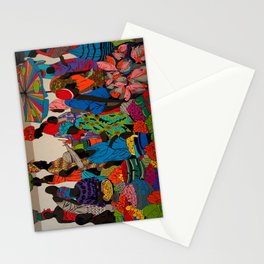 African market 3 Stationery Cards