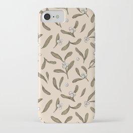Mistletoe Pattern iPhone Case