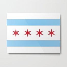 Chicago City Flag Metal Print