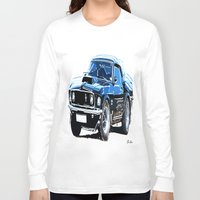 muscle Long Sleeve T-shirts featuring american muscle  by Moonlight Creations