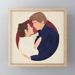 """Han Solo and Leia Skywalker"" by Ariel Sinha Framed Mini Art Print"