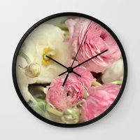 poetry Wall Clocks featuring poetry by Sylvia Cook Photography