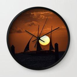Pirate Sunset Wall Clock