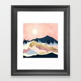 Coral Sunset Framed Art Print