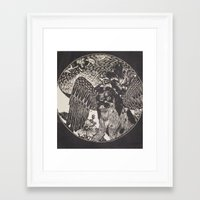 mythology Framed Art Prints featuring mythology by Liss527