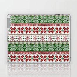 Green & Red Winter Fair Isle Laptop & iPad Skin