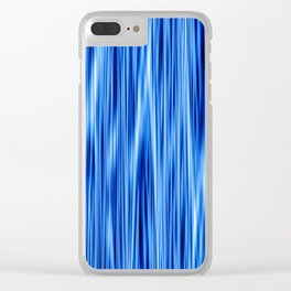 Ambient 8 in blue Clear iPhone Case