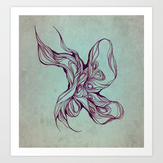 Abstract form Art Print
