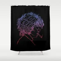 forever young Shower Curtains featuring Bob Dylan Forever Young by Hottest Dog In Town