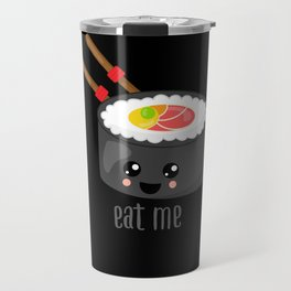 Eat Me in black Travel Mug